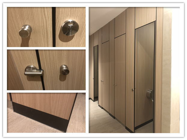 high privacy style toilet partition and accessories